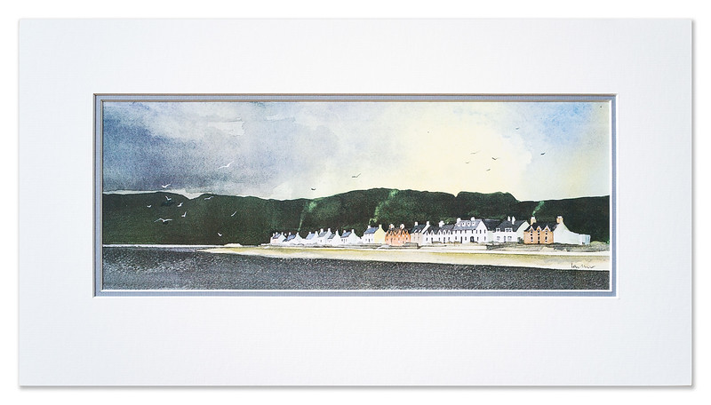 "A print of ""Ullapool Waterfront"" by Ian Nelson"