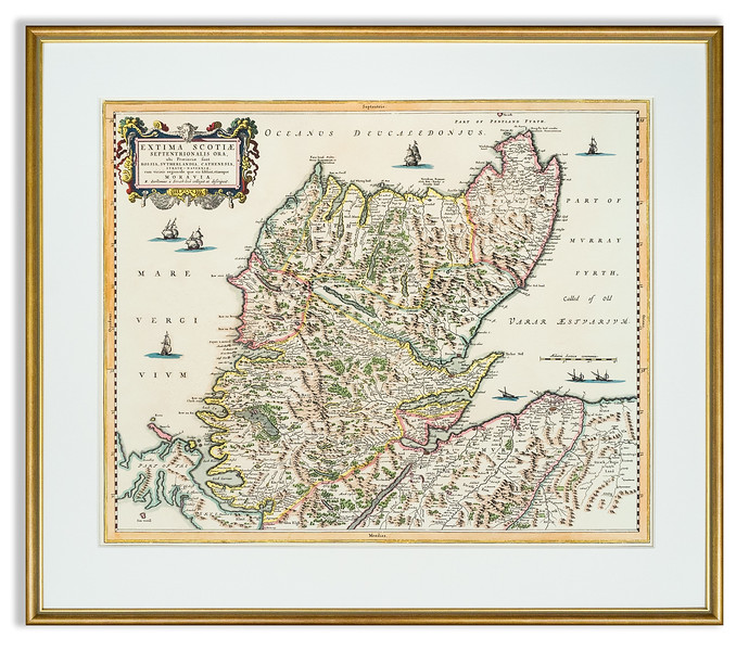 Reproduction of Antique map: Scotland, Extima Scotiae by Joan Blaeu 1654
