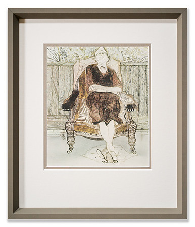 Artwork by unknown artist, Lady Sleeping in a Chair.
