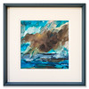 "Original watercolour/ink artwork ""Storm Cloud Passing"" by Scottish Artist Clare Blois"