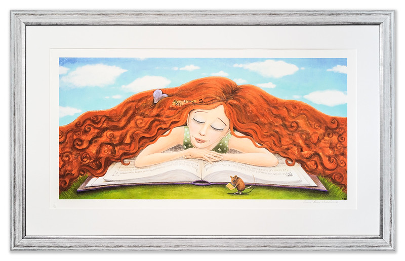 Limited Edition print 'The Girl and the Mouse' by Laura Anne Middleness