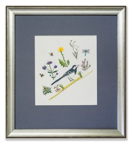 Embroidery of Wagtail