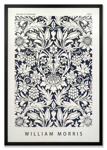 Poster, Tulipes et Feuilles (Tulips and Leaves), by textile designer, William Morris