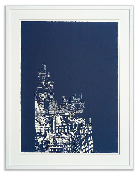 Screenprint 'Temple 1' by Chitra Parvathy Merchant