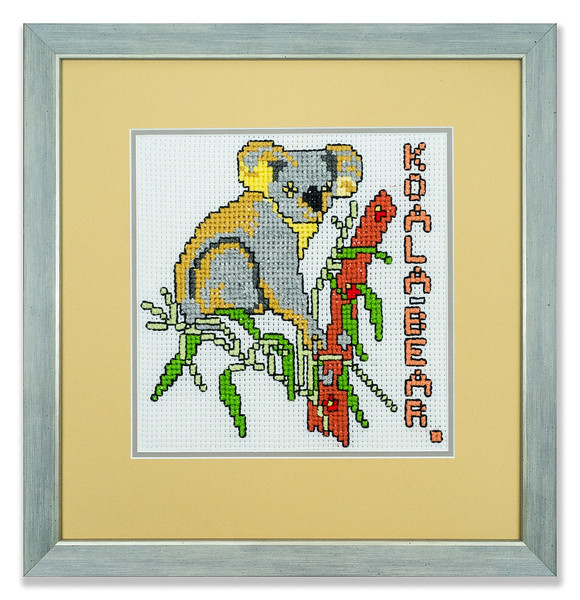 Cross-stitch of a Koala Bear by Stuart Beattie