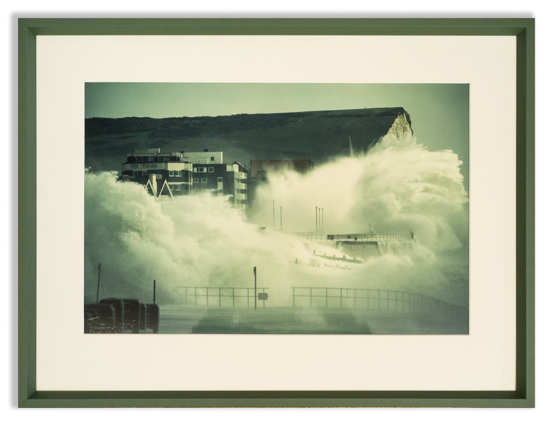 Photograph, Seaford in a November gale.