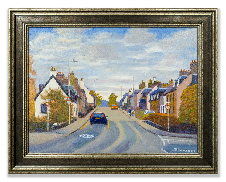 Oil painting of Proby Street, Maryburgh by Robert Forsyth