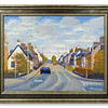 Oil painting of Maryburgh Village by Robert Forsyth