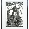 Life and Death lithographic by Alasdair J Gray