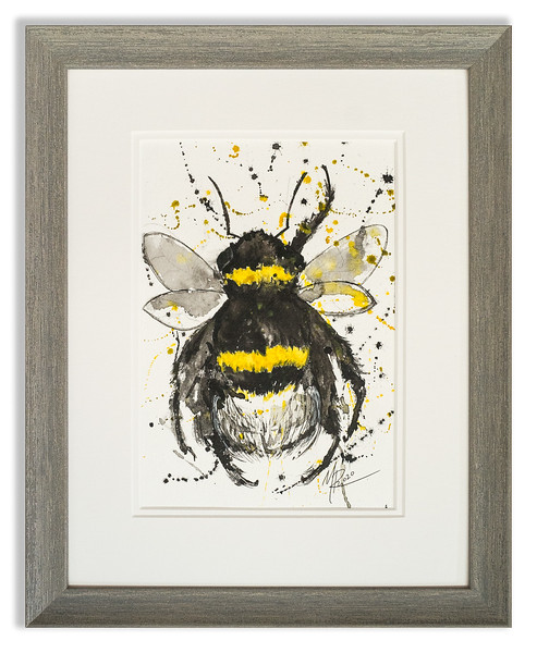 Watercolour of Bee by Scottish Artist Mike Ross