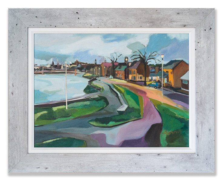 'Along the River Ness', an original oil painting by Rosemary Bonnin