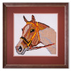 Bespoke needlework design by Stuart Beattie, Horse 2.
