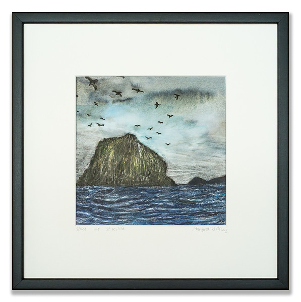 "Pre-mounted print ""Stacs of St Kilda"" by Marigold Williams BA (Hons)"