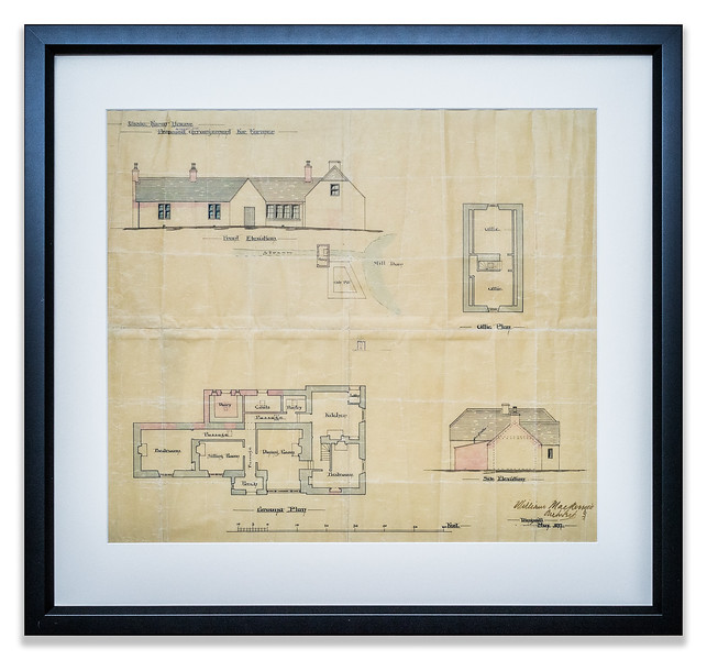Architectural Drawing, Ussie Farm House, Estate of Brahan, 1897