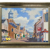 Original Oil painting of  High Street, Dingwall by Robert Forsyth