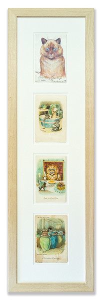Four antique cat postcards, early 20th Century.
