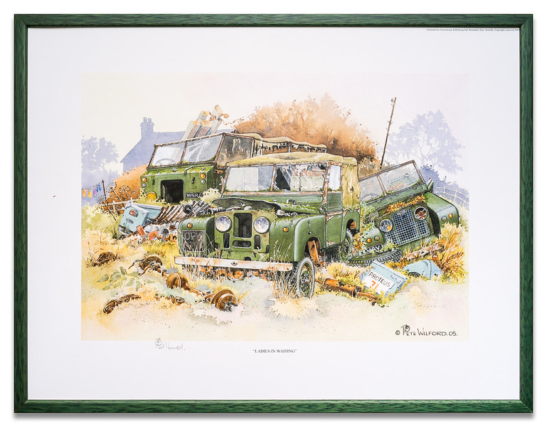 """Laidies in Waiting"", a landrover print by Pete Wilford"