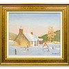 Original oil painting Snowscene Fasnakyle, Strath Glass by Robert Forsyth.