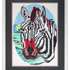 Bespoke needlework design by Stuart Beattie, Zebra.