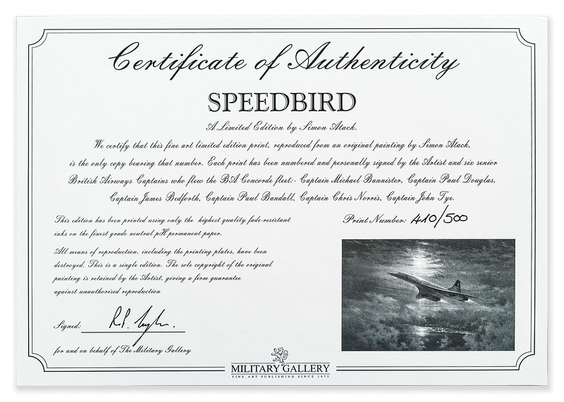 Limited edition print Speedbird by Simon Atack