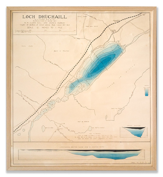Survey map of Loch Dhuchaill, 1902