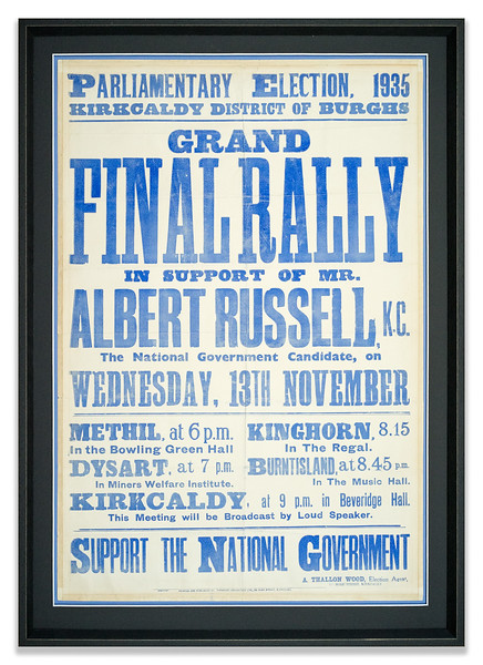 Election Poster 1935 for Albert Russell