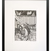 The Water Wolf, Great Northern Pike, Original Pen & Ink artwork by Cathy MacLeod