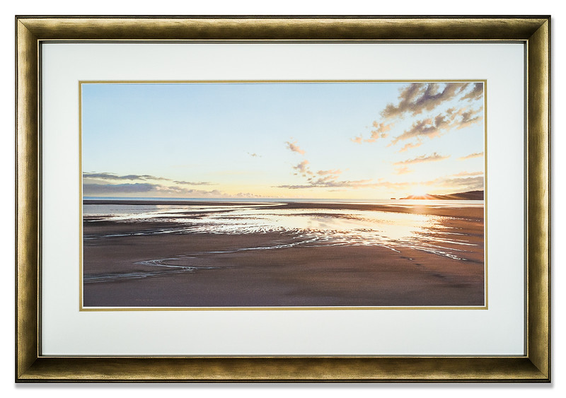 First Light Pahora Beach by Peter Geen, a fine art giclee print on 100% cotton-rag watercolour art paper.