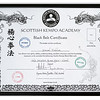 Second Degree Black Belt Cerificate