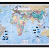 World map record of a backpacking trip.