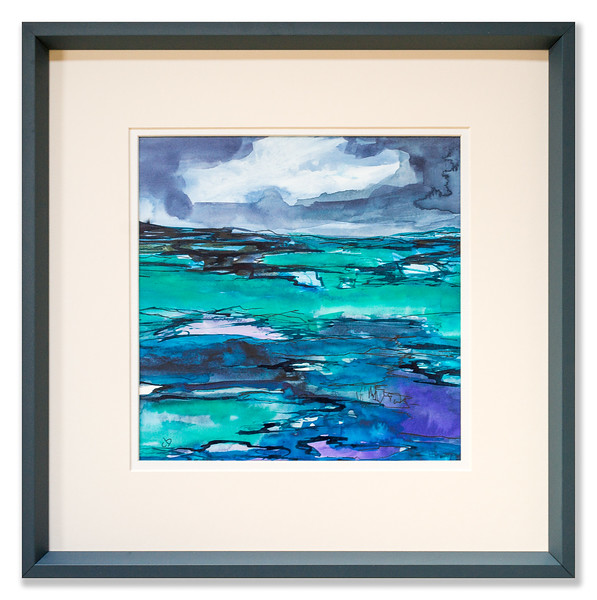 "Original watercolour/ink artwork ""A Secret Shore"" by Scottish Artist Clare Blois"