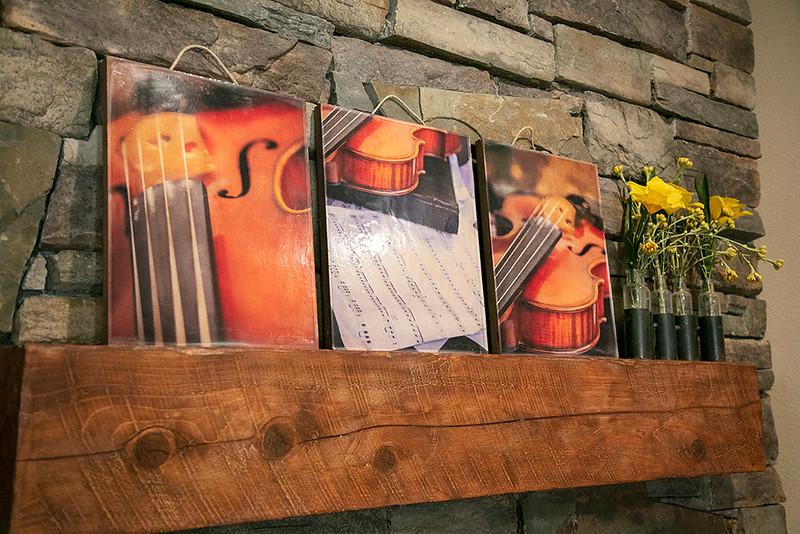 Violin Trio Printed on Wood