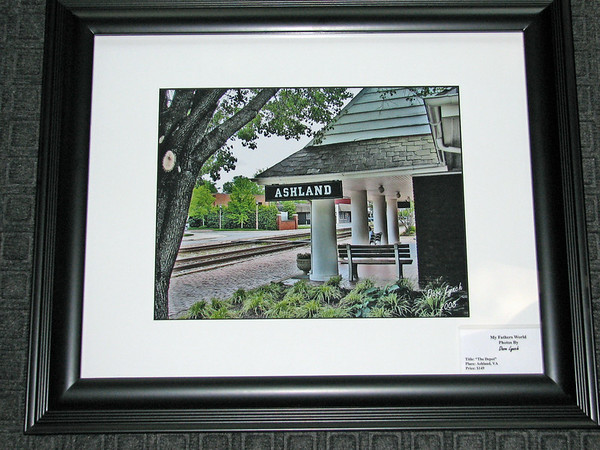 """Title: """"Ashland Depot"""" - Matted And Framed <br /> Size: 16x20<br /> Price:$149 Plus Tax -S&H<br /> <br /> All photos available matted and framed:<br /> 5x7 -     $39<br /> 8x10 -   $49<br /> 11x14 - $69<br /> 16x20 - $149<br /> <br /> All Photos Available In 5x7 Note Cards $3.95ea    <br /> 10/$30<br /> <br /> Email Your Order:  ArtGalleryRiverRd@gmail.com"""