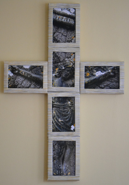 #1 Crucifixion (center)<br /> <br /> [First Presbyterian Church, Evanston:  March 2013]<br /> [Harbor Light:  Permanent loan]