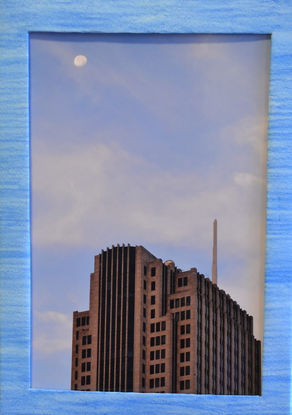 60  Chicago Loop with Moon (left framed)