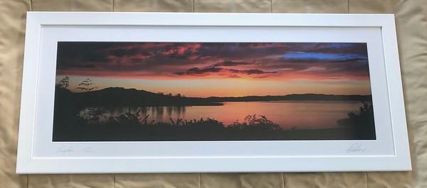 Moody Skies & Calm Waters, White frame 18X12 - $390 NZD