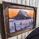 "Mapleton Barn 2013 with Trim, 24x36"""