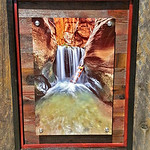 "Kanarra Creek, 12x18"" Metal Print with Standout Mounts on Planked Frame."