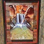 "Kanarra Creek, 12x18"" Metal Print with Standout Mounts on Planked Frame."