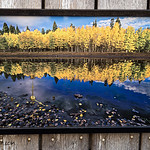 Box Lake Metal Print, Clock, 12x18""