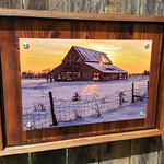 """Mapleton Barn 2013, 12x18"""" Metal Print with Standout Mounts on Planked Frame."""