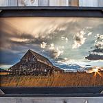 "Mapleton Barn, Clouds, 20x30"""