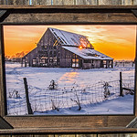 Mapleton Barn 2013 with Trim, 24x36""