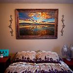 """Utah Lake Sunset, Metallic Paper, 30x40"""""""