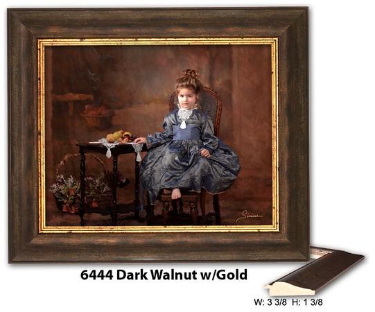 6444 Dark Walnut w Gold - Amberwood