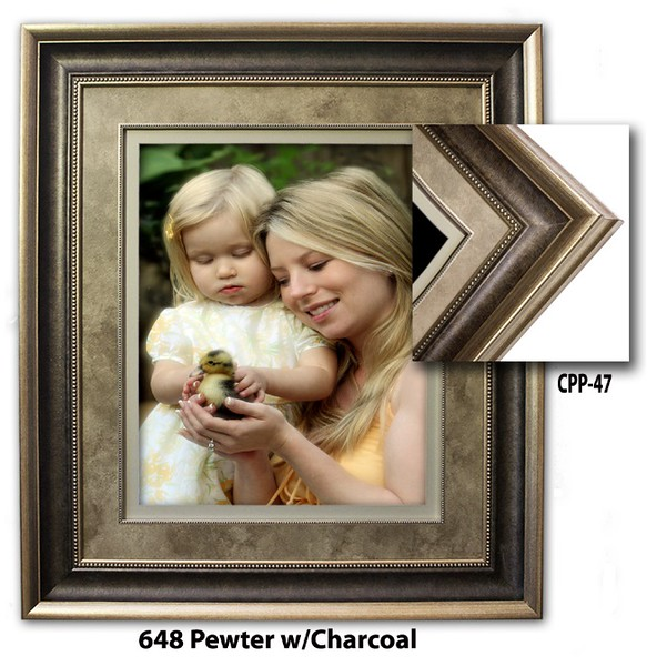 648 Pewter w Charcoal