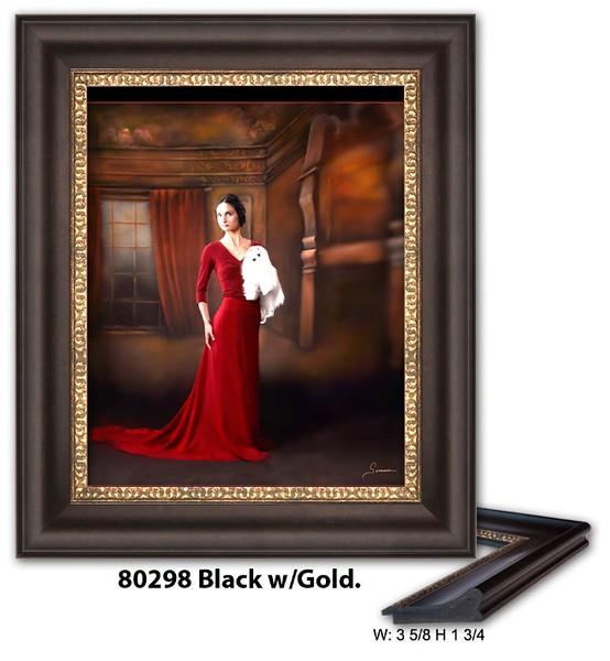 80298 Black w Gold - Amberwood