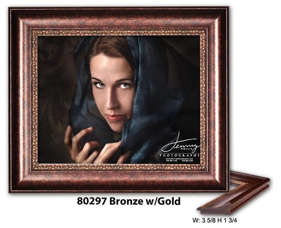80297 Bronze w Gold - Amberwood