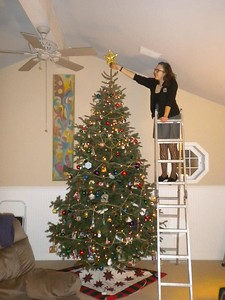 The gigantic Christmas tree in Grosse Pointe, MI -- December 12, 2012