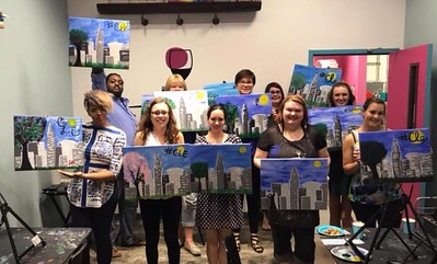Bachelorette Party at Wine and Design in Rocky River, OH on Saturday, May 27 2017
